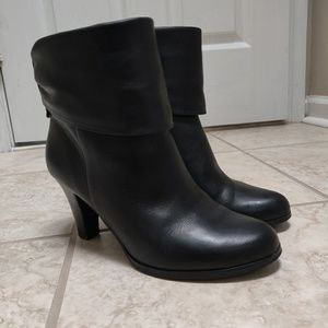 BCBG Soft Leather Ankle Boots